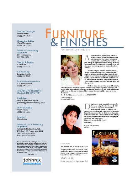 Furniture & Finishes Pg2