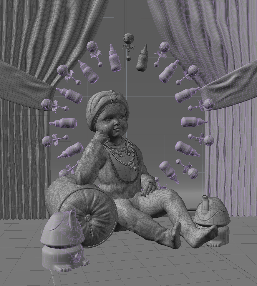 Indian Baby 3D Scene