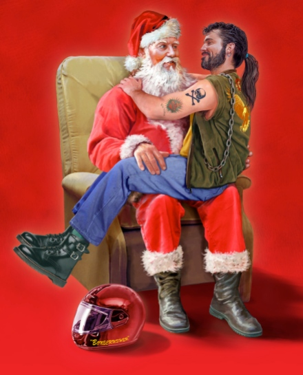 Santa /Biker