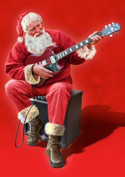 Santa/Guitar