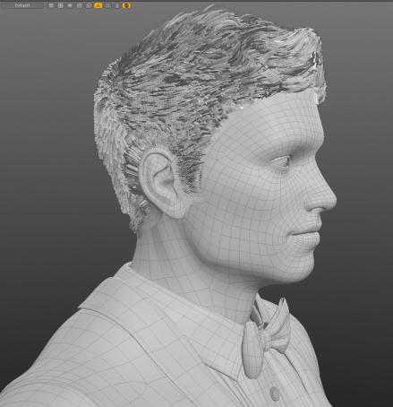 Casino Character 3D mesh