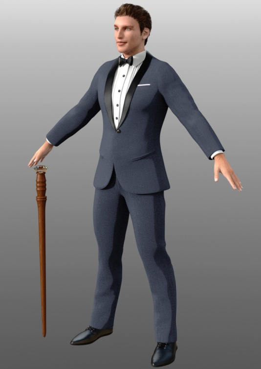 Casino Character Alternate outfit - T Pose
