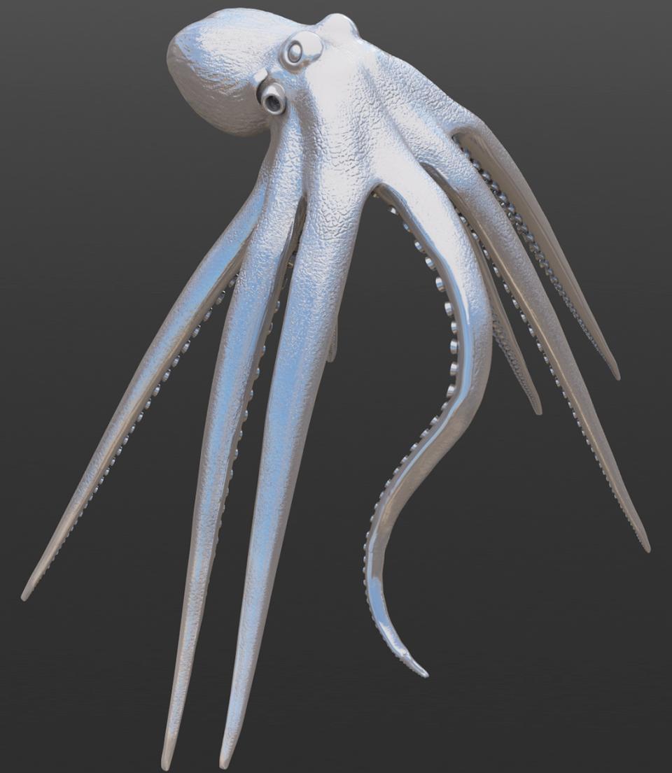 Octopus pose test render